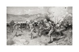 Queen's Royal West Surrey Regiment Leading the Central Attack During the Battle of Colenso Giclee Print by Louis Creswicke