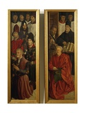 Panels of Knights and Panel of Relic, Detail from Altarpiece of St Vincent, 1460-1470 Giclee Print by Nuno Goncalves