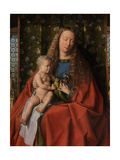 Detail from the Virgin and Child with Saints Donatian and George and Canon Joris Van Der Paele Giclee Print by  Jan van Eyck