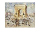 L'Arc De Triomphe, Place of the Star; L'Arc De Triomphe, Place De L'Etoile, 1929 Giclee Print by Gustave Loiseau