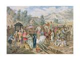 Examen Des Bacheliers Militaires a Sin-Tcheou-Fou Giclee Print by Louis Delaporte