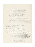 A Sample of Rudyard Kipling's Handwriting from 'The Absent Minded Beggar' Giclee Print by Louis Creswicke