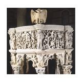 Italy, Cathedral of Pisa, Pergamon or Pulpit, 1301-1310 Giclée-tryk af Giovanni Pisano