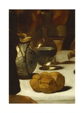 Bread and Wine, Detail from Supper at Emmaus Giclee Print by  Caravaggio