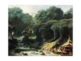 Fete at Rambouillet or Island of Love, Circa 1770 Reproduction procédé giclée par Jean-Honoré Fragonard