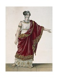 Actress Mademoiselle George in Role of Clytemnestra, Act Four, Scene Three from Iphigenia, 1674 Giclee Print by Jean Racine