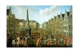 Arrival of Prince Maximilian in Kolhmarkt Square in Bonn in 1784 Giclee Print by Johann Franz Rousseau