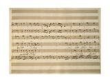 Handwritten Sheet Music of Stabat Mater, 1735 Lámina giclée por Giovanni Battista Pergolesi