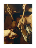 Face of Christ, Detail from Crowning with Thorns Giclee Print by  Caravaggio