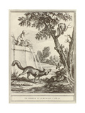 The Fox and the Crow Giclee Print by Jean-Baptiste Oudry