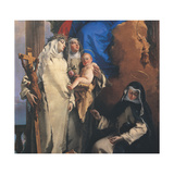 Virgin Appearing to the Dominican St Rose of Lima Giclee Print by Giovanni Battista Tiepolo