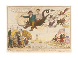 The Political Champion Turned Resurrection Man! -Out of Thy Own Mouth Will Condemn Thee.., 1819 Giclee Print by Isaac Robert Cruikshank