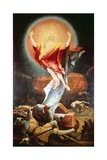 The Resurrection, Detail from the Isenheim Altarpiece, Ca 1515 Giclée-tryk af Matthias Grünewald
