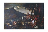 The Journey of Abraham's Family Giclee Print by Giovanni Benedetto Castiglione