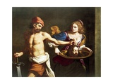 Salome Receives Head of John Baptist Giclee Print by Giovanni Francesco Barbieri