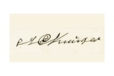 Signature of Stephanus Johannes Kruger, from 'South Africa and the Transvaal War' Giclee Print by Louis Creswicke