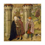 Meeting of Joachim and Anne Outside Golden Gate at Jerusalem Giclee Print by Jaume Huguet