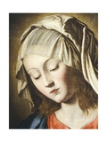 Virgin's Face, Detail from Virgin in Prayer Giclee Print by  Giovanni Battista Salvi da Sassoferrato