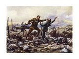 Private J Boyd, of the Irish Guards, Capturing a German Machine-Gun Single-Handed, World War I Giclee Print by Harold Hume Piffard