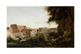 Colosseum Seen Through Arcades of Basilica of Constantine Giclee Print by Jean-Baptiste-Camille Corot