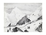 Sir Joseph Dalton Hooker at Ciuncerna Pass, from Himalayan Journals Giclee Print by Joseph Dalton Hooker