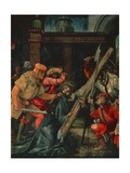 Way to Calvary, Back of Altarpiece with Crucifixion, Ca 1523-1525 Giclee Print by Mathias Grunewald