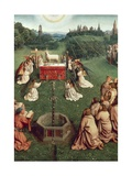 Belgium, Ghent, Saint Bavo Cathedral, Adoration of Mystic Lamb, 1432 Giclee Print by Jan van Eyck