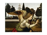 Announcing Angel, Detail from Annunciation, 1472-1475 Giclee Print by  Leonardo da Vinci