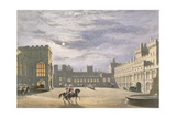 State Arrival of a Royal Visitor, the Quadrangle by Moonlight, Windsor Castle, 1838 Giclee Print by James Baker Pyne