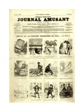 Review of the Fourth Quarter of 1856, from the 'Journal Amusant', 17 January 1857 Giclée-trykk av Nadar