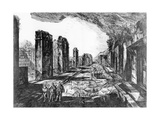 View of the Tavern of Pompeii with the Priapus Shop Sign Giclee Print by Giovanni Battista Piranesi
