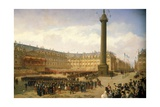 Return of Napoleon Iii's Army from Italy, Parade on Place Vendome in Paris, August 14, 1859 Giclee Print by Louis Eugene Ginain