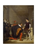 Don Pedro of Toledo, Ambassador of Philip Ii, Kissing Sword of Henry IV at Louvre, 1832 Giclee Print by Jean-Auguste-Dominique Ingres