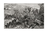 A Picket of 13th Hussars Surprised Near the Tugela River, Hussar Hill Giclee Print by Louis Creswicke