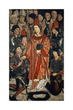 St Vincent Surrounded by Highest Echelons of State, Detail from St Vincent Panels, Circa 1460 Giclee Print by Nuno Goncalves