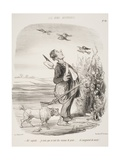 Ah! Sapristi.... Je Crois Que Ce Sont Des Oiseaux De Proie.... Ils Mangeaient Du Raisin! Giclee Print by Honore Daumier