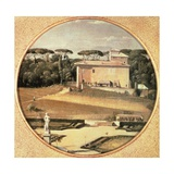 Raphael's Casino Seen from Villa Borghese in Rome, 1805 Giclee Print by Jean-Auguste-Dominique Ingres