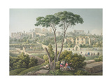 View of the Palatine Hill in Rome Giclee Print by Louis-Francois Cassas