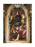 Mary Assumption with St Peter and St Jerome Giclee Print by Giovanni Francesco Barbieri