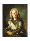 Portrait of a Marechal De France, Probably Chretien-Louis De Montmorency-Luxembourg Giclee Print by Jean-Marc Nattier