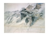 Chamonix, Aiguille Charmoz, from a Window of the Union, 1849 Giclee Print by John Ruskin