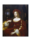 Portrait of Dona Isabel De Requesens, Vice-Queen of Naples Giclee Print by Giulio Romano