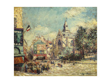 The Church of Saint Medard and the Mouffetard Road in Paris Giclee Print by Gustave Loiseau