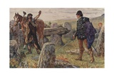 Tressilian Started Up with His Sword in His Hand Giclee Print by Henry Justice Ford