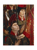 The Princes of Braganza, Detail of Altarpiece of San Vincenzo Giclee Print by Nuno Goncalves