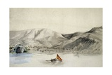 Humata Harbour, Mariana Islands, Drawing from Journey around World, 1817-1820 Giclee Print by Louis De Freycinet