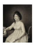 A Seated Lady Giclee Print by Jean-Baptiste-Jacques Augustin