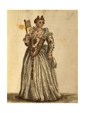 Gentlewoman in Evening Dress Giclee Print by Jan van Grevenbroeck
