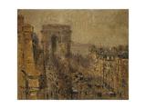 L'Avenue De Friedland, Paris, Cloudy Sky; L'Avenue De Friedland, Paris, Ciel Nuageux, 1925 Giclee Print by Gustave Loiseau