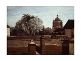 Bell Tower of Church of Saint Paterne at Orleans, 1840-1845 Giclee Print by Jean-Baptiste-Camille Corot